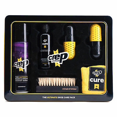 CREP PROTECT Ultimate Shoe CARE (Spray,Solution,Cloth,Brush,12 Wipes,Metal Case)