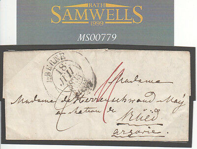 MS799 1833 SWITZERLAND *Berne* PETITE Entire Letter *Chateau Blied*Bled SLOVENIA