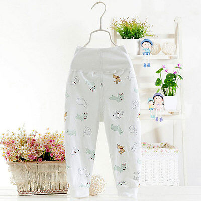 Baby Boys Girl Pants Toddler Cotton Leggings Elastic Waist Pant Trousers