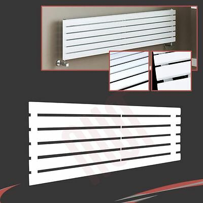 "1250mm(w) x 440mm(h) ""Corwen"" Horizontal White Flat Panel Radiator - 2870 BTUs"