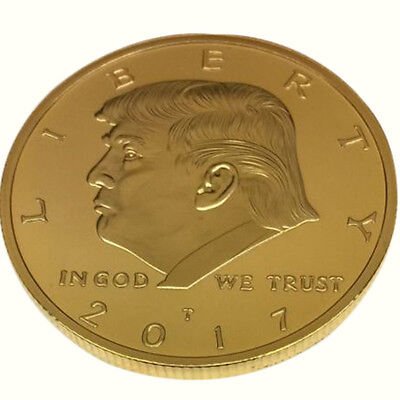 1x GOLD COINS President Donald Trump commemorative coins 40MM Hot