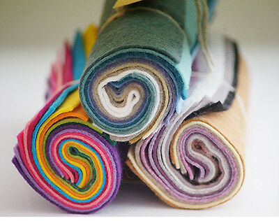 Fabirc-Crafts-Toymaking-Needle Felting WOOL MIX MINI FELT ROLLS -Sewing Bee