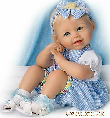 "Ashton Drake ""MADISON"" - LIFELIKE POSEABLE BABY GIRL DOLL - NEW- IN STOCK NOW !"