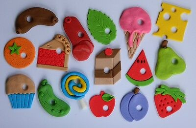 16 edible HUNGRY CATERPILLAR INSPIRED CUPCAKE cake topper DECORATION book theme