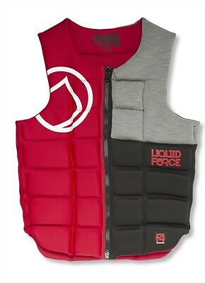 Liquid Force Flex Wakeboard Watersports Impact Vest Small Red. 51100