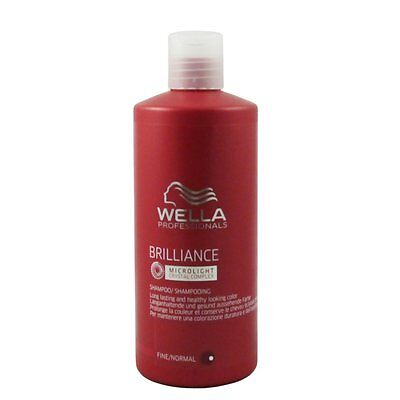 Wella Brilliance Shampoo 500 ml für feines - normales coloriertes Haar
