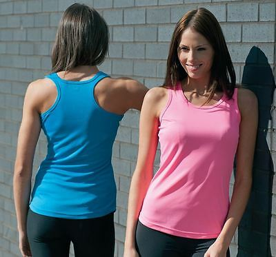 AWDis Ladies Girlie Just Cool Sporty Breathable Fitness Running Vest Gym Top