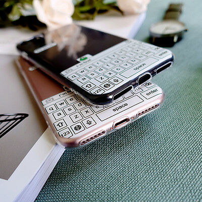 Funny keyboard Creative Soft TPU Phone Back Case Cover For iPhone 6 6s 7 plus