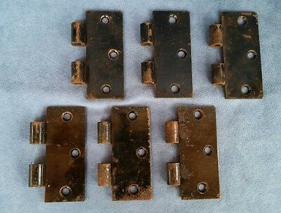 "Vintage Stanley (SW) 3 1/2"" Brass Plated Steel Interior Door Hinge Parts"