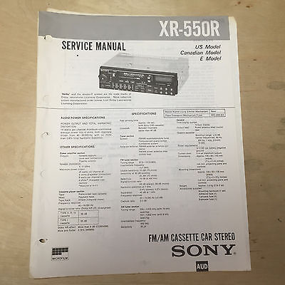 sony service manual for the xr 550r cassette player radio car stereo rh picclick com Sony Xplod CDX MP80 Manual Sony Receiver Manuals