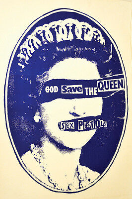 SEX PISTOLS God Save the Queen Punk Vintage Poster Print Canvas Giclee Annex Art