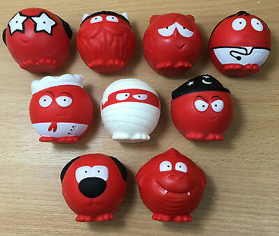 Red Nose Day 2017 - Comic Relief Set of 9 noses - NEW