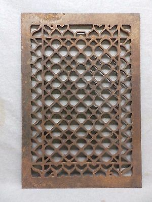 Antique Cold Air Return Heat Grate Clover Pattern Vent Old Vintage 16x24 323-17R