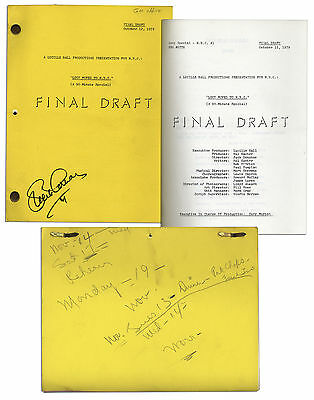 Lucille Ball Personally Owned Script From 1979 TV