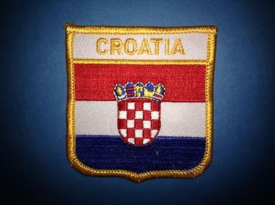 Croatia Shield Flag Patch Hat Jacket Biker Vest BackpackTravel Patch Crest A
