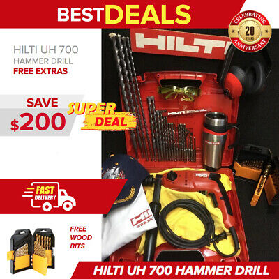 Hilti Uh 700 Hammer Drill, Display, Free Set Of Bits, Extras, Fast Ship