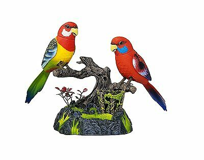 Haktoys Battery Operated Realistic Singing & Chirping 2 Birds with Penholder