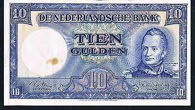 NETHERLANDS BANKNOTE 10 P83 1949 GVF bright ef paper