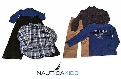 NEW Nautica Baby Boys' 3 Piece Set with Shirt, Sweater and Pant- 4T,5,6,7