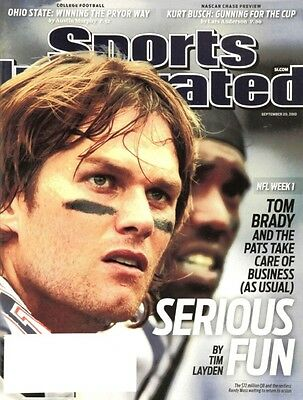 September 20, 2010 Tom Brady New England Patriots Sports Illustrated NO LABEL WB