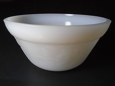 Federal ~ APPLE BLOSSOM SMALL NESTING or MIXING BOWL ~ Milk Glass  circa 1930's