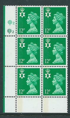 S, SCOTLAND WADDINGTON MACHIN 12p CYLINDER 1A 1B DOT BLOCK OF 6 SUPERB U/M