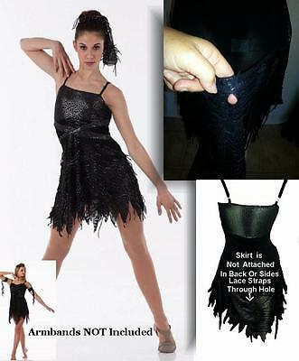 Possesion Dance Costume Biketard Tattered Camisole Dress Clearance Adult & Child