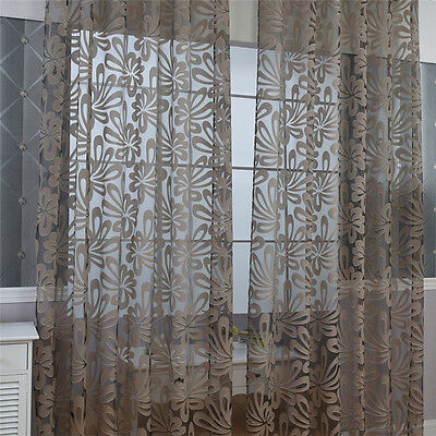 Modern Sheer Voile Window Curtains Bedroom Living Room Drape Home Decor 3 Colors