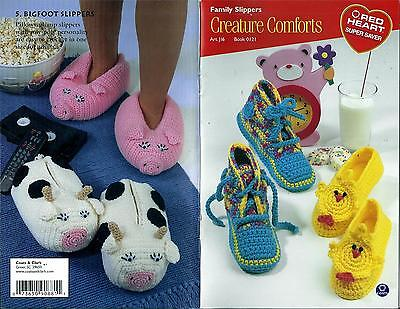 Creature Comforts Family Slippers Knitting & Crochet Booklet - Coats 0121