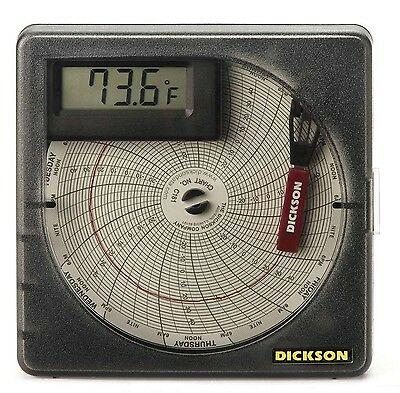 """Dickson SL4350 Temperature Chart Recorder with Digital Display 4""""/101mm Chart..."""