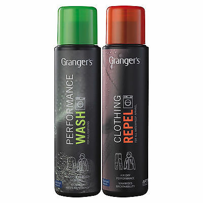 Grangers Performance Wash + Clothing Repel 300ml Each Twin Pack