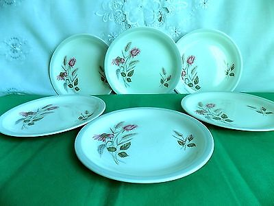 Woods & Sons Floral Small Dinner Plates x 6