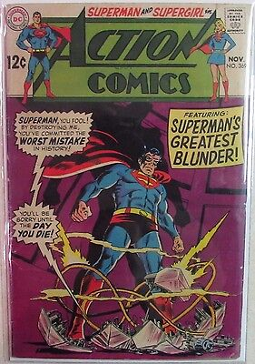 DC Comics - Action Comics - Issue #369 - Silver Age 1960s - Superman & Supergirl