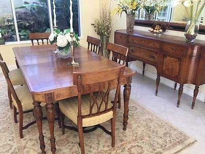 Dining Room Set Table, Called the Wyman Lincoln Chair Company Sideboard Chairs