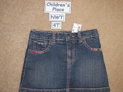 NWT Children's Place denim skirt with adjustable waist - 4T