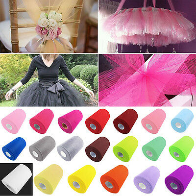 "6"" x 100 yards - TUTU TULLE ROLL - Netting Craft Fabric Soft Nylon Wedding Decor"