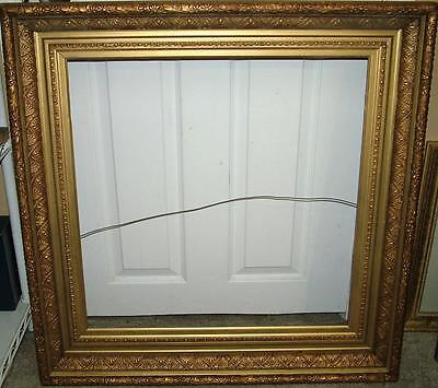 Antique Victorian Deep Well GOLD Gesso Frame 32x32 holds 24x24 Art painting