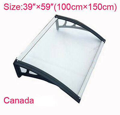 """40″×60""""UV Rain Protection Awning Polycarbonate Canopy Patio Cover"""