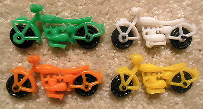 Vintage Lot of 4x MOTORCYCLES Toy Premium Prizes Gumball Cracker Jack Charms