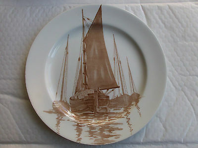 Royal Doulton D2551 Series Plate - Barges