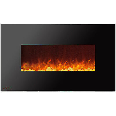 Ignis Royal 50 inch Wall Mount Electric Fireplace with Pebbles
