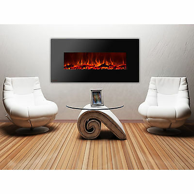 Ignis Royal 60 inch Wall Mount Electric Fireplace with Logs