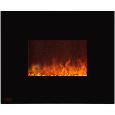 Ignis Royal 36 inch Wall Mounted Electric Fireplace with Crystals