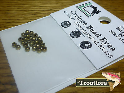 "24 PIECES BRASS BEAD HEADS BRASS 7/64"" 2.8mm HARELINE - NEW FLY TYING MATERIALS"