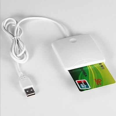 USB Contact Smart Chip Card IC Cards Reader Writer With SIM Slot EH