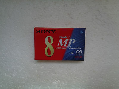 Cassette Vierge pour Camescope Video 8 SONY MP 60 - Neuf