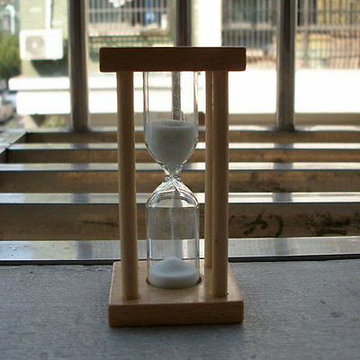 Wooden Hourglass Sandglass Sand Clock Timer for Kids Brushing 1/3/5minutes EH