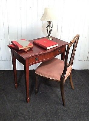 Antique style serpentine console hall table / writing desk / dressing table