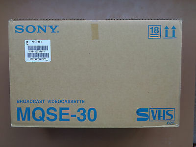 10 Cassette Video S VHS Vierge SONY MQSE-30 - K7 S-VHS Neuf