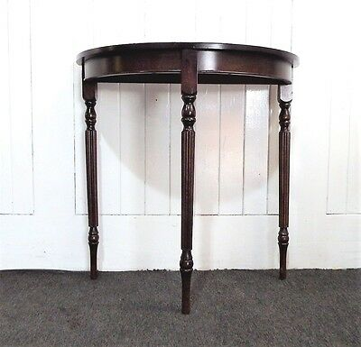 Antique style demi lune console hall table